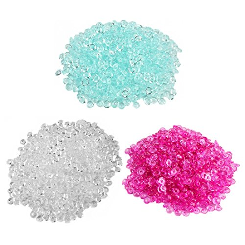 Fishbowl Beads for Crunchy Slime - Clear Plastic Vase Filler Beads Fish Bowl Beads for Homemade Slime, Kid's Arts DIY Crafts, Wedding and Party Decoration(100% Plastic) (7.5 oz / 210g, 3 Colors _A) (Bowl Wedding Fish)