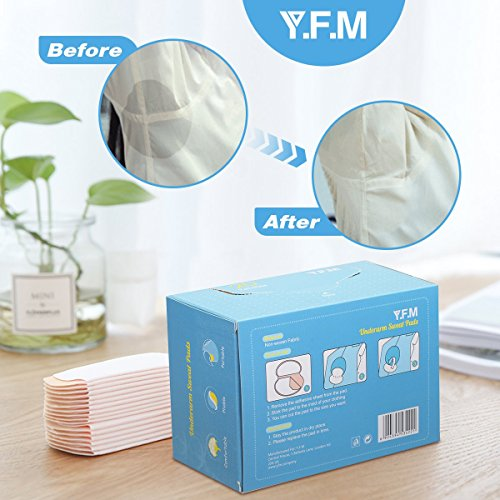 Underarm Sweat Pads, Y.F.M Underarm Antiperspirant Sticker Absorbing Sweat Pads non-woven fabric Disposable Shield Dress Shields Sweat Guard for Women and Men [40 Pack/20 Pairs] by Y.F.M (Image #6)
