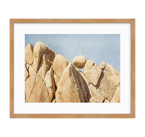 Framed Photographic Print, Joshua Tree Wall Art, California Desert Decor, Southwestern Landscape Art, Rock Formations' ()