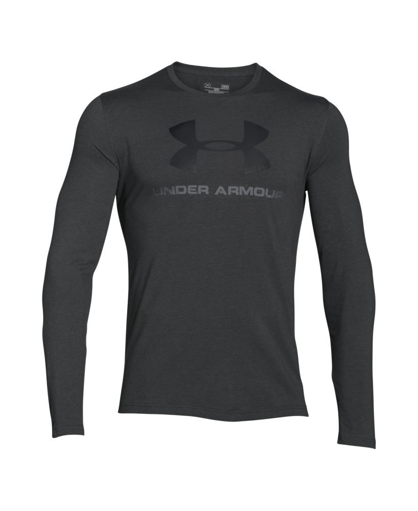 Under Armour Men's Sportstyle Long Sleeve T-Shirt, Carbon Heather /Black, Small by Under Armour (Image #4)