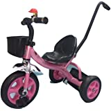 Baybee Kiddo Tricycle with Parent Control (Pink)
