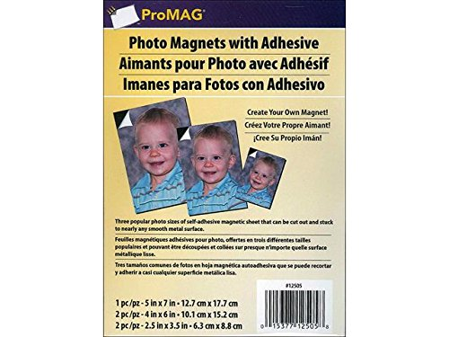 Magnum Magnetics-Corporation AFG-12505 ProMAG Magnetic Sheets with Adhesive-Assorted Sizes