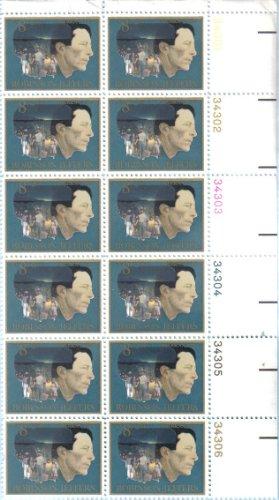 Robinson Plates (ROBINSON JEFFERS ~ POET ~ CALIFORNIA COAST #1485 Plate Block of 12 x 8¢ US Postage Stamps)