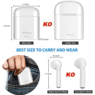 Bluetooth Headset Wireless Earbuds Bluetooth Headphones Mini Size HD Stereo In-Ear Noise Canceling Earphones With Mic For iPhone iOS Android Smart Phones