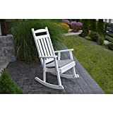 Cheap A&L Furniture Company Classic Recycled Plastic Porch Rocking Chair