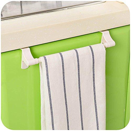 LOVELY Towel Bar Square Rack Storage Door Holder Organizer Kitchen Hanging Rail White