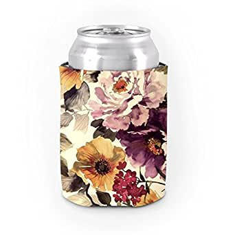 Amazon Com Retro Floral Can Koozies For Girl Modern Girly