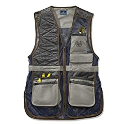 Beretta Men\'s Two Tone Clay Shooting Vest, Gray/Navy, Large
