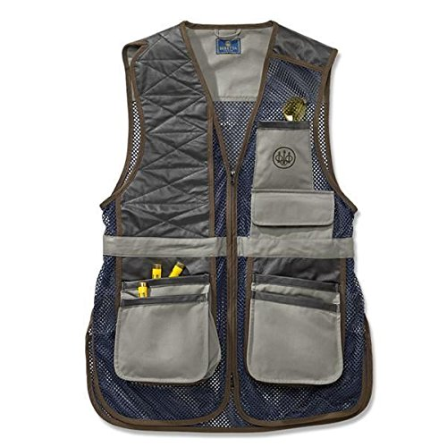 Beretta Men's Two Tone Clay Shooting Vest, Gray/Navy, Large