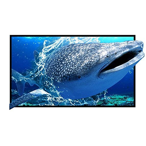 72 Projection Screen 72 Inch Diagonal 16:9 Projection HD Foldable Screen Home Theater Widescreen Projector Screen For Travel PPT Business Presentation [並行輸入品] B07CRY6LW9