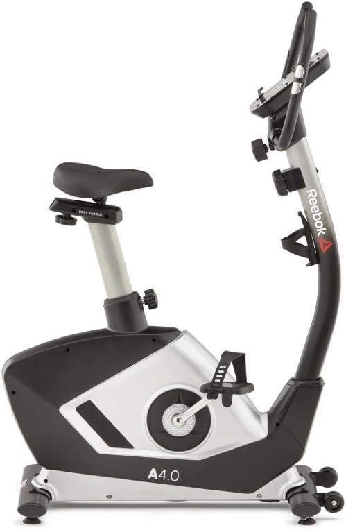 Reebok A4.0 - Bicicleta estática Volante de inercia de 6 kg, 8 niveles de resistencia, Pantalla LCD de 5,5