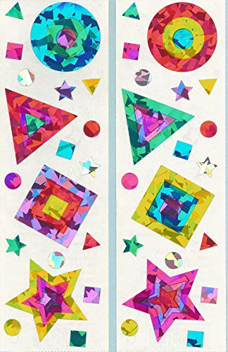 Mrs. Grossman's Sparkle Shapes Stickers 2 Strips ()