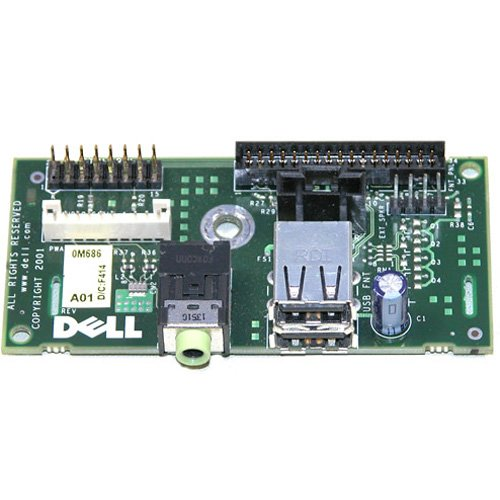 Dell Optiplex GX260 small mini tower I/O panel - 0M686