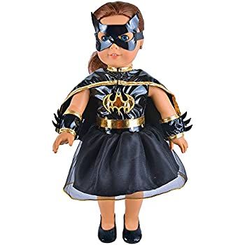 Tatuer Little Batgirl Costume Doll Clothes Outfit for 18 Inch American Girl Dolls Madame Alexander  sc 1 st  Amazon.com & Amazon.com: Tatuer Little Batgirl Costume Doll Clothes Outfit for 18 ...