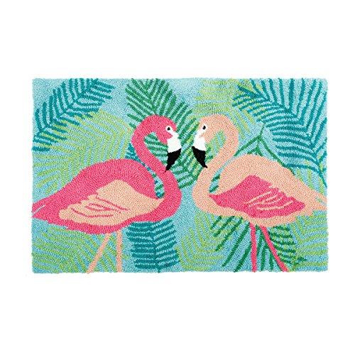 2 Flamingos Hooked Rug
