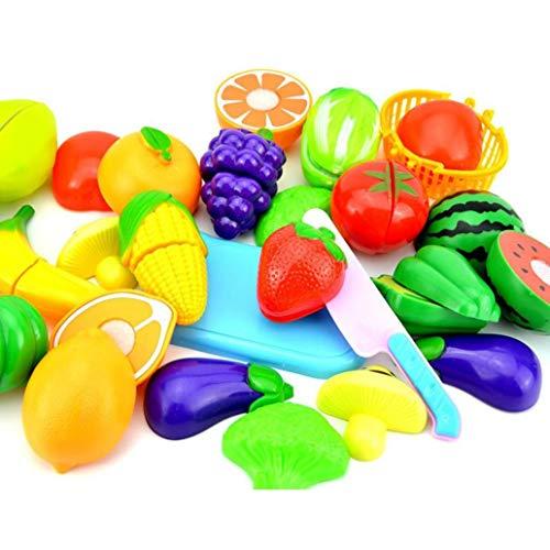 Fliyeong Obst Gemüse Lebensmittel Schneiden Set Wiederverwendbare Rollenspiele Pretend Kitchen Kids Toys Stilvoll und beliebt