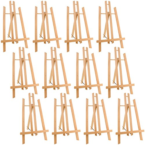 US Art Supply 14'' Tall Medium Tabletop Display A-Frame Easel (12-Easels) by US Art Supply
