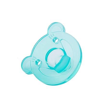 NaiCasy Estilo Lindo niño del Oso Chupete de Silicona Resistente ortodoncia pezón Mordedor Cuidado del bebé Material Verdes, Chupetes
