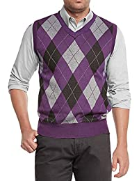"<span class=""a-offscreen"">[Sponsored]</span>Men's Argyle V-Neck Sweater Vest"