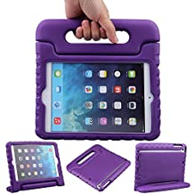 iPad Mini Case – Travellor® Kids Light Weight Kido Series Convertible Handle Kickstand Kids Friendly Protective Shockproof Cover with Stand & Handle for Apple iPad Mini (Purple, iPad Mini)