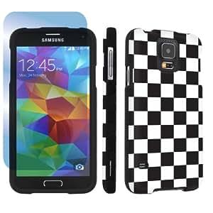 SkinGuardz Samsung Galaxy S5 Hard Protection Case + Screen Protector - (Checker Black)
