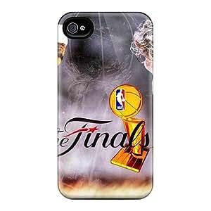 New Arrival Case Cover With Kku76bbJk Design For Iphone 4/4s- The Finals 2011 Miami Heat Versus Dallas Mavericks Lebron James And Dirk Nowitzki