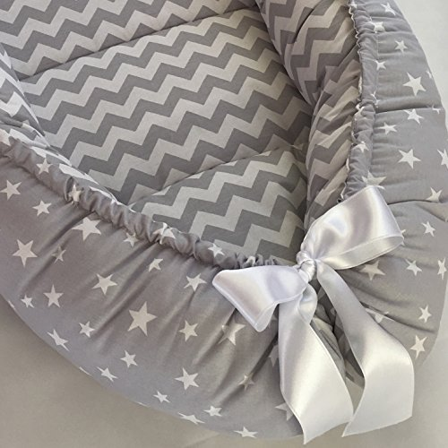 4 Days Delivery Baby Nest Bed Gray Babynest Bed Newborn and Toddler Size Baby Sleeper Co Pod Baby Girl Bed Baby Boy Nest Baby Shower Gift Cocoon Snuggle Bed Babynest