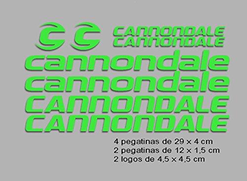 Ecoshirt TN-PFBM-GUAE Stickers Cannondale F117 Vinyl Adesivi Decal Aufkleber КТу MTB Stickers Bike, Green