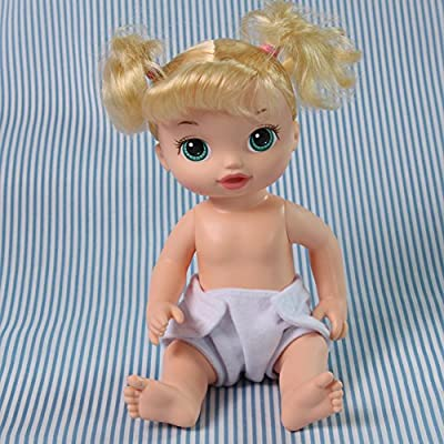 Baby Doll Toy 6 Pack Fabric Diapers, White: Toys & Games