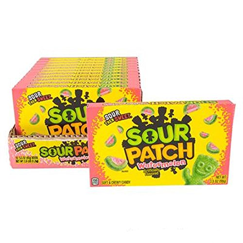 Sour Patch Watermelon Theater Box Candy, Multicolored. Twelve 3.5oz Boxes. ()