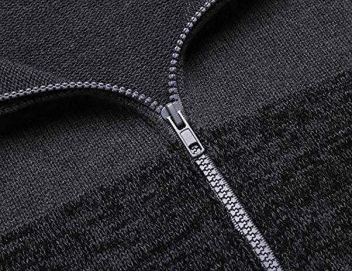 Hiver Mode En Slim Tricotés Grau Mélangé Automne Capuche Hommes Cardigan Saoye Patchwork Coton Vêtements zvxdXIqv
