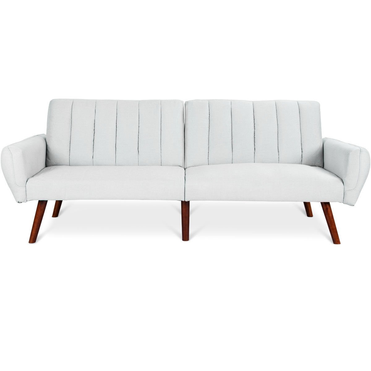Amazon.com: GHP 600-Lbs Capacity Gray Linen Wood Frame 5 ...