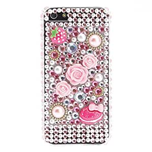 Rhinestones Style Strawberry Design Hard Case for iPhone 5/5S