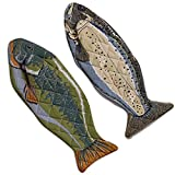 """DII Cotton Lake House Fish Oven Mitts, 6 X 16.5"""" Set of 2, Machine Washable and Heat Resistant for Kitchen Cooking and Baking"""