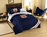 NCAA Auburn Tigers Twin Comforter, Sheets and Sham (5 Piece Bed in a Bag)