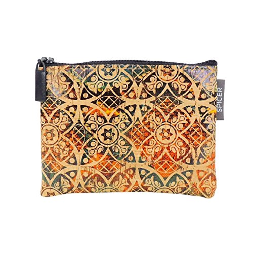 Mini Pouch in Fes Tile Cork by SPICER BAGS