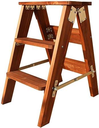 Rziioo Escalera de Madera Silla Escalera Plegable Escalera de Madera Maciza Taburete Biblioteca Cuatro Capas multifunción,A: Amazon.es: Hogar