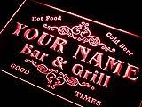 AdvPro Custom u-tm-r Name Personalized Custom Family Bar & Grill Beer Home Gift Neon Sign