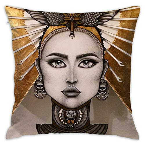 Yangkun Throw Pillow Covers OLY Anger Tattoo Montreal 18 X 18 Inches Cushion Sham for Couch Bed Sofa Painted Colorful Geometric Print Daily Decorations for Home D¨¦cor Square Coastal Cushion Cover ()