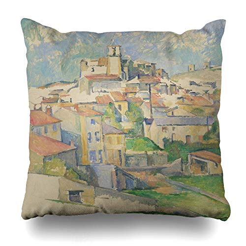 Cover Nobody Gardanne by Paul Cezanne 188586 French 86 Post Impressionism Impressionist Painting Oil On Home Decor Pillowcase Square Size 20