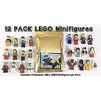 12 minifiguras aleatorias de Lego - A estrenar - Excelente surtido de mini higos con todas las partes del cuerpo; Sombrero, pelo o casco. Nuevo producto Lego de alta calidad