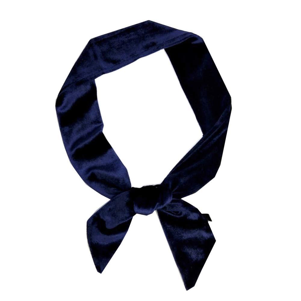 Women/'s Soft Silk Thin Skinny Scarf BoyFriend Ribbon Tie Necktie Choker