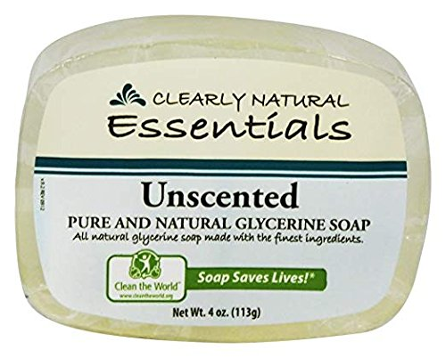 Clearly Natural Glycerin Bar Soap, Unscented, 4oz Bar, Pack of (Clearly Natural Bar Soap)