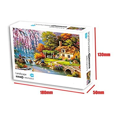 Adults Large Jigsaw Puzzles Game 1000 Piece Jigsaw Puzzle,Garden Small Town,16.53x11.69 Inch,Children's Educational: Toys & Games
