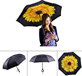 Double-Layer-Inverted-Umbrella-Cars-Reverse-Umbrella-R-Horse-Windproof-UV-Protection-Big-Straight-Umbrella-for-Car-Rain-Outdoor-With-C-Shaped-Handle-and-Carrying-Bag