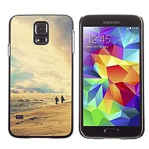 """For Samsung Galaxy S5 , S-type Naturaleza Playa Retro"""" - Arte & diseño plástico duro Fundas Cover Cubre Hard Case Cover"""