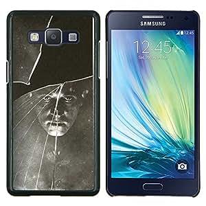 LECELL--Funda protectora / Cubierta / Piel For Samsung Galaxy A5 A5000 -- Negro Blanco vintage retro de la foto --
