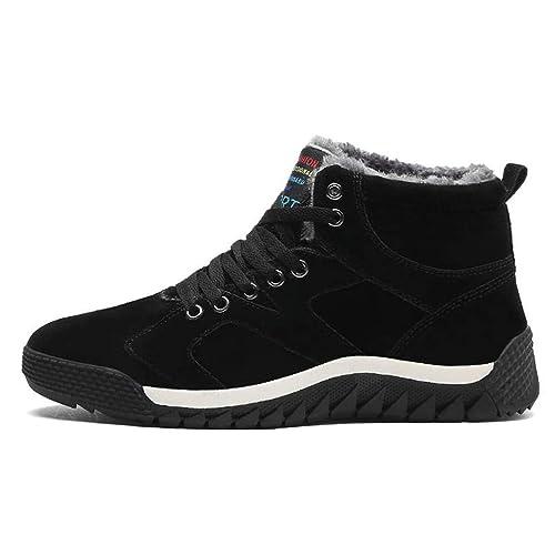 Zapatillas De Deporte para Hombre Zapatos para Caminar Gamuza De Vaca Piel De Invierno CáLido Hombre Botines De Nieve para Hombres Zapatos Casuales Running ...