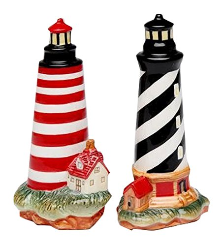CG-10480-Black-Striped-Red-Striped-Lighthouse-Salt-Pepper-Shakers