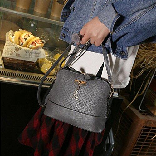 BZLine® Frauen Kurier Taschen Mode Mini Bag Deer Spielzeug Shell Form Tasche Grau